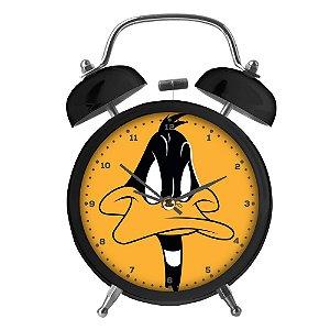 Relógio Decorativo Despertador de Metal Looney Tunes Patolino - 17 cm