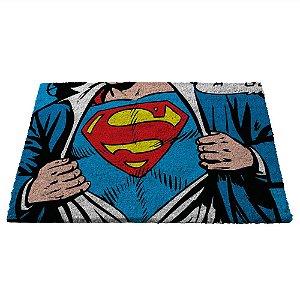 Capacho Decorativo de Fibra de Coco DC Comics Superman - 45 x 75 cm