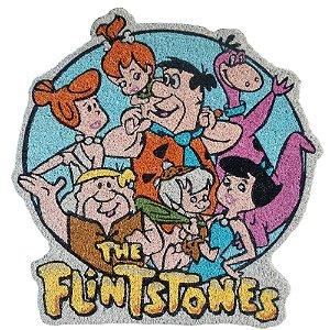 Capacho Decorativo de Fibra de Coco Hanna Barbera Os Flintstones - 63 x 60 cm