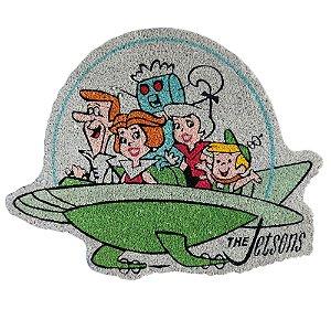 Capacho Decorativo de Fibra de Coco Hanna Barbera Os Jetsons Passeio em Família - 63 x 82 cm