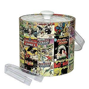 Balde de Gelo com Tampa, Pegador e Alça de Plástico DC Comics Covers - 22 cm