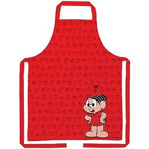 Avental de Algodão Turma da Mônica Vermelho - 80 cm