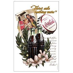 Pano de Prato de Algodão Coca-Cola Vanilla Flowers - 70 x 45 cm