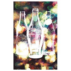 Pano de Prato de Algodão Coca-Cola Bottles Light Bright - 70 x 45 cm