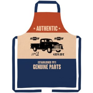 Avental de Algodão GM Vintage Authentic Genuine Parts - 80 cm