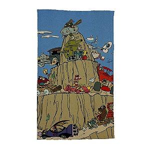 Pano de Prato de Algodão Hanna Barbera Corrida Maluca na Montanha - 70 x 45 cm