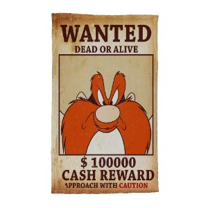 Pano de Prato de Algodão Looney Tunes Eufrazino Procurado - 70 x 45 cm