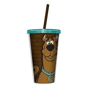 Copo de Plástico com Tampa e Canudo Hanna Barbera Scooby-Doo - 500 ml