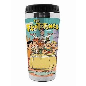 Copo Térmico de Plástico Hanna Barbera Os Flintstones Passeio em Família - 470 ml