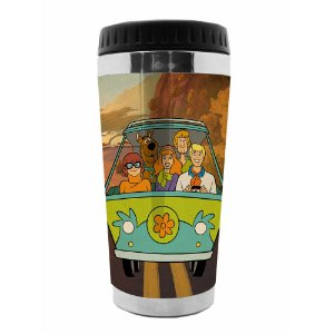 Copo Térmico de Plástico Hanna Barbera Scooby-Doo Everybody in the Mystery Machine - 470 ml