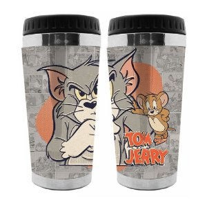Copo Térmico de Plástico Hanna Barbera Tom and Jerry - 470 ml