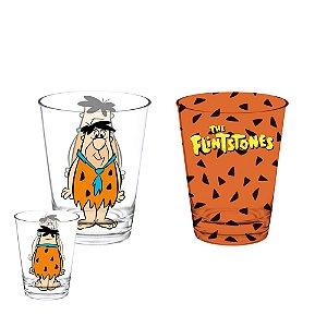 Conjunto de Copos de Vidro Hanna Barbera Os Flintstones - 2 Peças