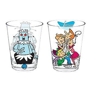 Conjunto de Copos de Vidro Hanna Barbera Os Jetsons - 2 Peças