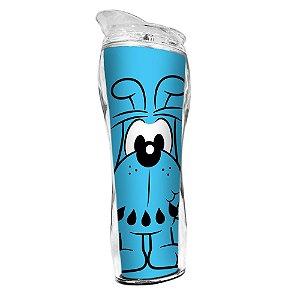 Copo Térmico de Plástico Silhouette Turma da Mônica Bidu - 400 ml