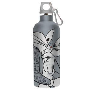 Garrafa de Alumínio com Alça e Gancho Looney Tunes Pernalonga - 750 ml