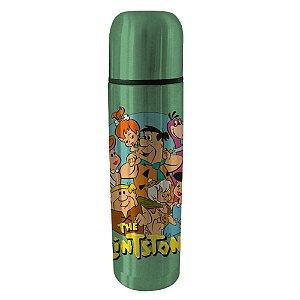 Garrafa Térmica de Aço Inox Hanna Barbera Os Flintstones Família - 500 ml