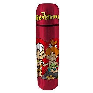 Garrafa Térmica de Aço Inox Hanna Barbera Os Flintstones Pedrita e Bambam - 500 ml