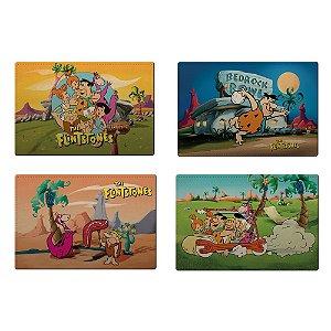 Jogo Americano de Plástico Hanna Barbera Os Flintstones - 4 Peças