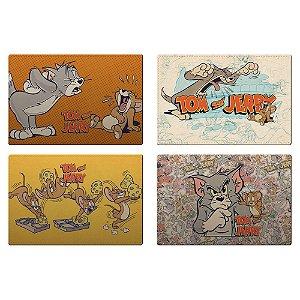 Jogo Americano de Plástico Hanna Barbera Tom e Jerry - 4 Peças
