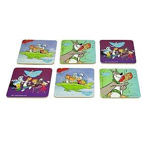 Conjunto de Porta Copos Hanna Barbera Os Jetsons - 6 Peças