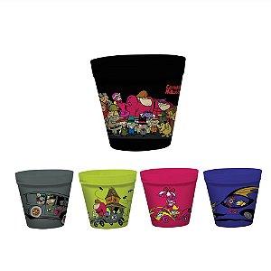 Conjunto de Potes para Pipoca Hanna Barbera Corrida Maluca - 5 Peças