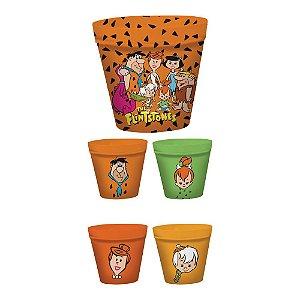 Conjunto de Potes para Pipoca Hanna Barbera Os Flintstones - 5 Peças
