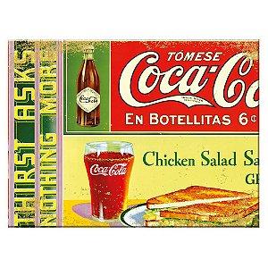 Tábua de Cozinha de Vidro Coca-Cola En Botellitas - 20 x 30 cm