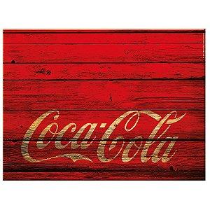 Tábua de Cozinha de Vidro Coca-Cola Wood Style - 20 x 30 cm
