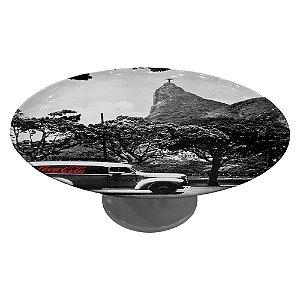 Prato para Bolo com Pedestal de Porcelana Coca-Cola Rio de Janeiro - 28 cm