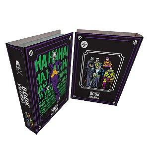 Caixa Livro Decorativa de Madeira DC Comics Vilões - 25 x 17 cm