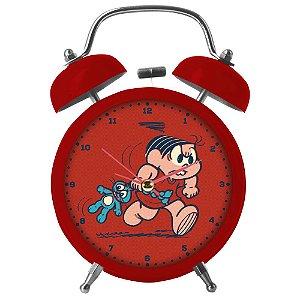 Relógio Decorativo Despertador de Metal Turma da Mônica - 17 cm
