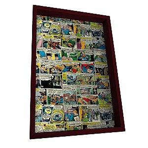 Porta Chaves de Madeira DC Comics Quadrinhos Coloridos - 6 Ganchos