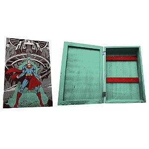 Porta Chaves de Madeira tipo Caixa DC Comics Superman - 6 Ganchos