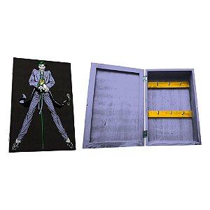 Porta Chaves de Madeira tipo Caixa DC Comics Joker - 6 Ganchos