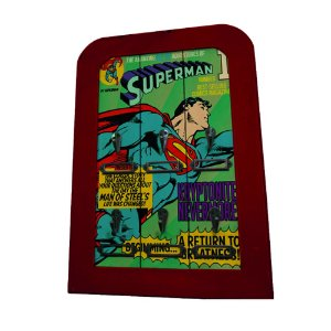 Porta Chaves de Madeira DC Comics Superman Flying - 6 Ganchos