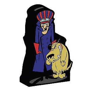 Cofre Decorativo de Cerâmica Hanna Barbera Corrida Maluca Dick Vigarista e Muttley - 25 cm