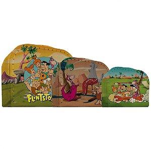 Conjunto de Maletas de Papelão Hanna Barbera Os Flintstones - 3 Peças