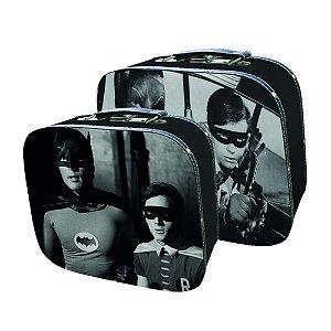 Conjunto de Maletas de MDF e Lona DC Comics Batman and Robin Movie - 2 Peças