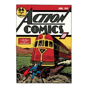Quadro / Tela Retangular DC Comics Superman Action Comics - 70 x 50 cm