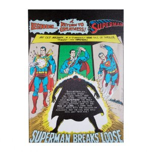 Quadro / Tela Retangular DC Comics Superman Breaks Loose - 70 x 50 cm