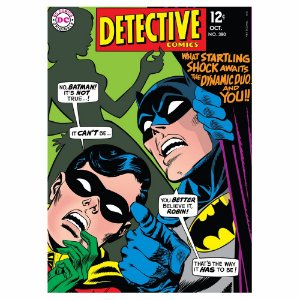 Quadro / Tela Retangular DC Comics Batman and Robin Detective Comics I - 70 x 50 cm