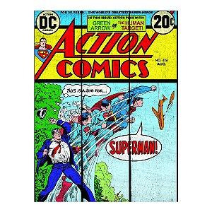 Placa Retangular Decorativa de Madeira DC Comics Transformação do Superman - 50 x 36 cm
