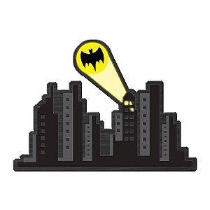 Placa Decorativa de Madeira DC Comics Gotham City Sign Alert - 30 x 40 cm