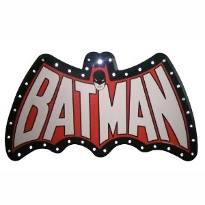 Placa Decorativa de LED DC Comics Batman -  33 x 66 cm