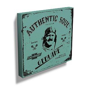 Quadro / Tela Quadrado GM Vintage Authentic Soul Pilot - 40 cm