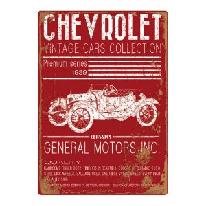 Quadro / Tela Retangular GM Chevrolet Vintage Cars Collection - 60 x 40 cm