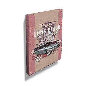 Quadro / Tela Retangular GM Vintage Long Beach Southern Coast - 60 x 40 cm