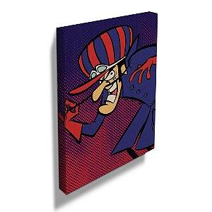 Quadro / Tela Retangular Hanna Barbera Corrida Maluca Dick Vigarista - 50 x 40 cm