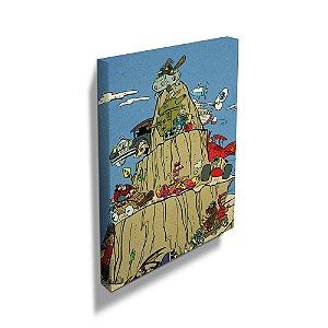 Quadro / Tela Retangular Hanna Barbera Corrida Maluca na Montanha - 50 x 40 cm