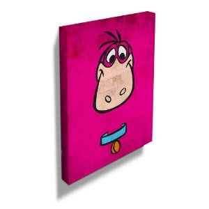 Quadro / Tela Retangular Hanna Barbera Os Flintstones Dino - 50 x 40 cm